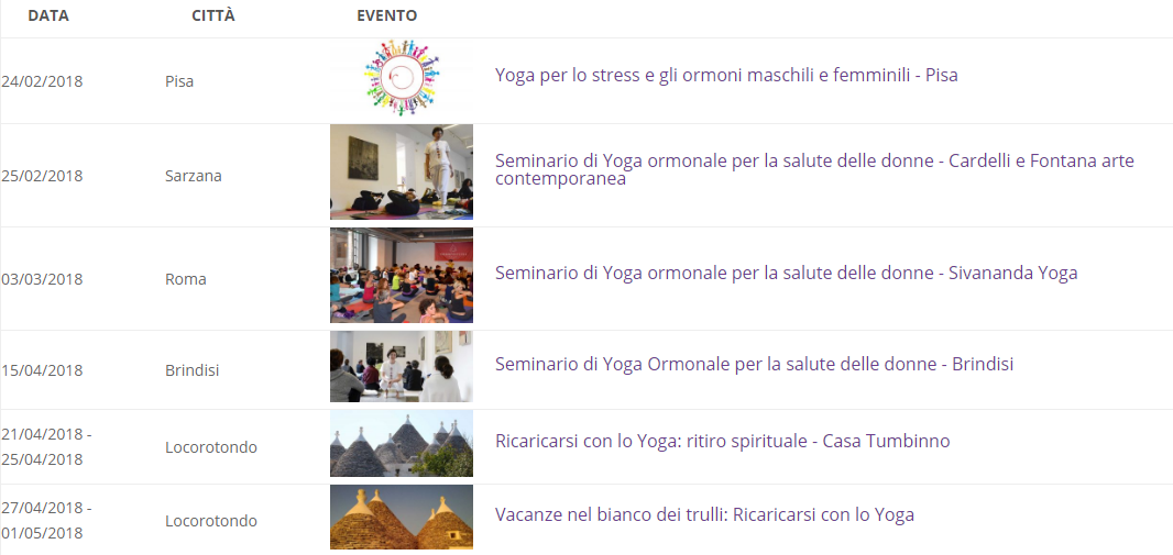 Yoga ormonale: seminari per il benessere delle donne in varie città italiane