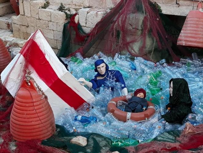A Bari un presepe immerso nella plastica contro l'inquinamento